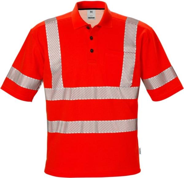 Fristads - High Vis Poloshirt Kl. 3 7406 PHV Warnschutz-Rot XS