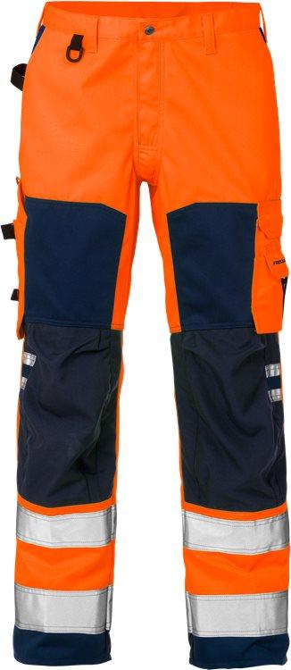 Fristads - High Vis Hose Kl. 2 2026 PLU Warnschutz-Orange/Marine C44
