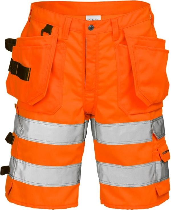 Fristads - High Vis Handwerkershorts Kl. 2 2028 PLU Warnschutz-Orange C44