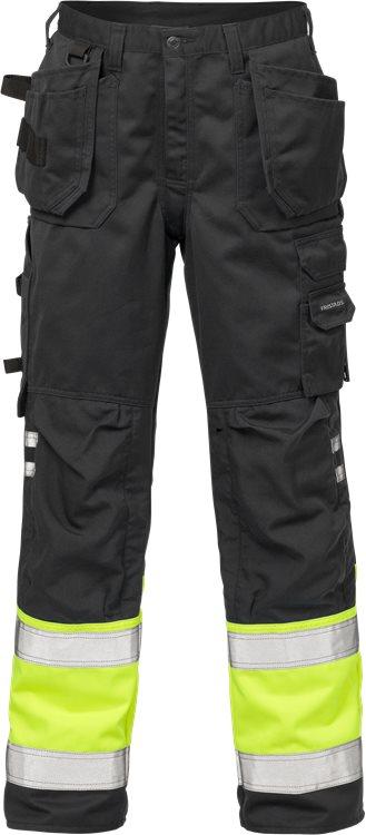 Fristads - High Vis Handwerkerhose Kl. 1 2029 PLU Warnschutz-Gelb/Schwarz C44