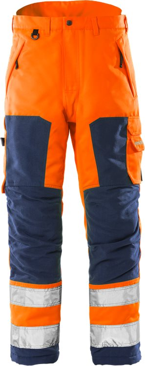 Fristads - High Vis Winterhose Kl. 2 2034 PP Warnschutz-Orange/Marine XS
