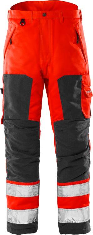 Fristads - High Vis Winterhose Kl. 2 2034 PP Warnschutz-Rot/Schwarz XS