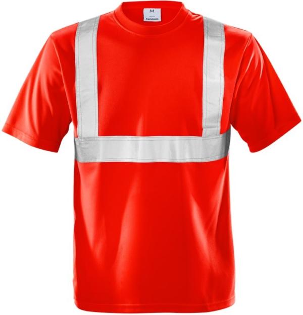 Fristads - High Vis T-Shirt Kl. 2 7411 TP Warnschutz-Rot XS