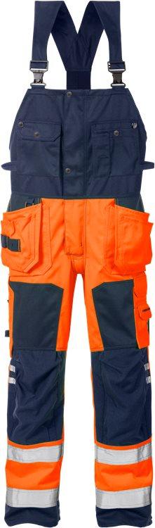 Fristads - High Vis Handwerkerlatzhose Kl. 2 1014 PLU Warnschutz-Orange/Marine C44