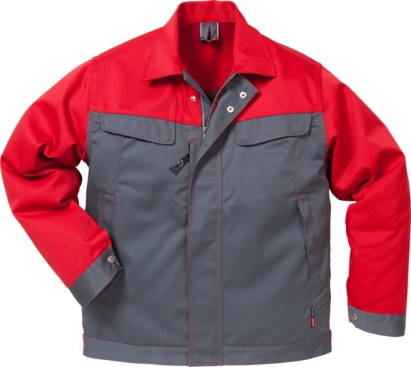 Fristads - Icon Two Jacke 4857 LUXE Grau/Rot XS