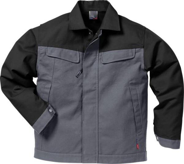 Fristads - Icon Two Baumwoll-Jacke 4857 KC Grau/Schwarz XS