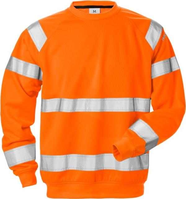 Fristads - High Vis Sweatshirt Kl. 3 7446 SHV Warnschutz-Orange XS
