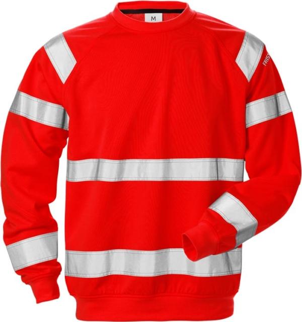 Fristads - High Vis Sweatshirt Kl. 3 7446 SHV Warnschutz-Rot XS