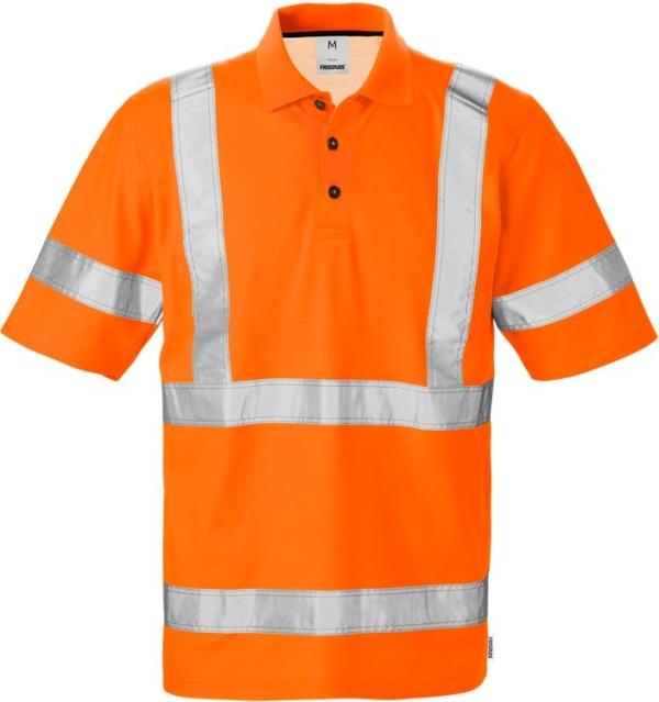 Fristads - High Vis Poloshirt 7025 Kl. 3 PHV Warnschutz-Orange XS