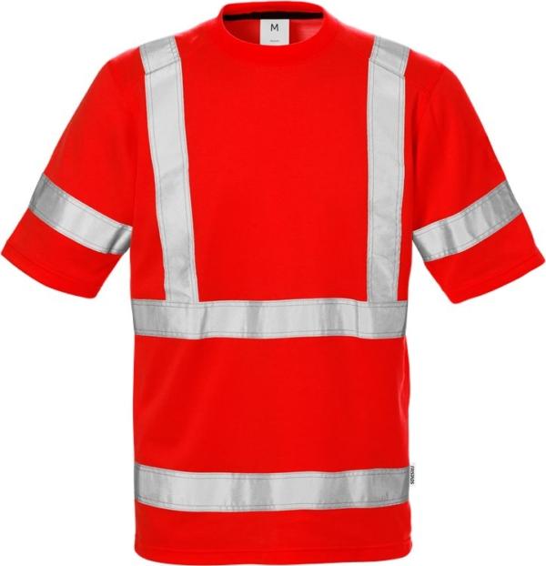 Fristads - High Vis T-Shirt 7024 Kl. 3 THV Warnschutz-Rot XS
