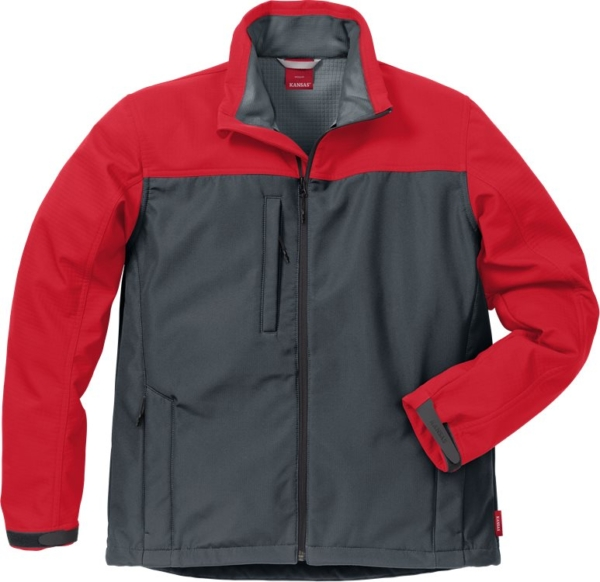Fristads - Icon Two Softshell-Jacke 4119 SSR Grau/Rot S