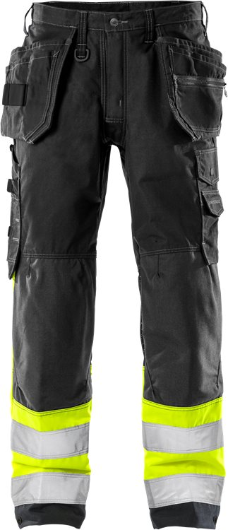 Fristads - High Vis Handwerkerhose Kl. 1 2093 NYC Warnschutz-Gelb/Schwarz C44