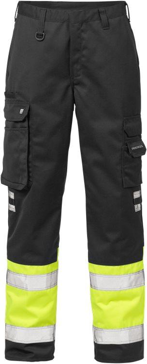 Fristads - High Vis Hose Kl. 1 213 PLU Warnschutz-Gelb/Schwarz C44