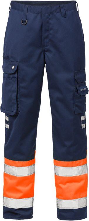 Fristads - High Vis Hose Kl. 1 213 PLU Warnschutz-Orange/Marine C44