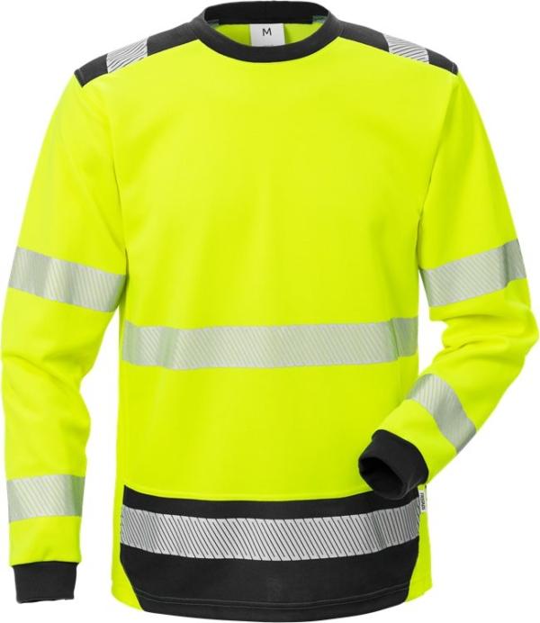 Fristads - High Vis T-Shirt Langarm KL. 3 7724 THV Warnschutz-Gelb/Schwarz XS
