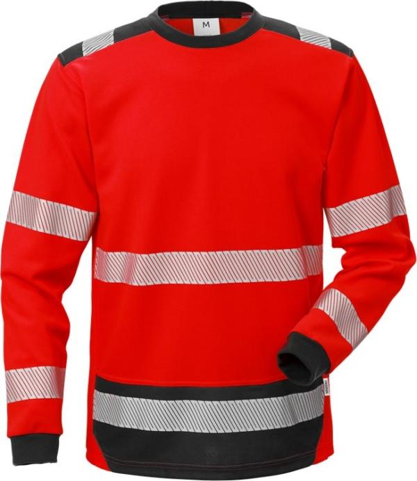 Fristads - High Vis T-Shirt Langarm KL. 3 7724 THV Warnschutz-Rot/Schwarz XS