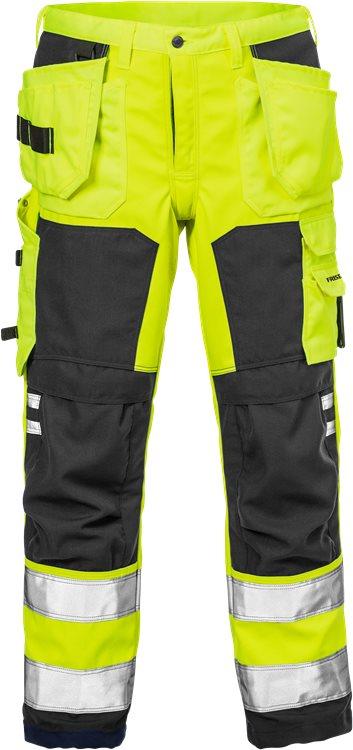Fristads - High Vis Handwerker Softshell-Hose Kl. 2 2083 WYH Warnschutz-Gelb/Schwarz C44