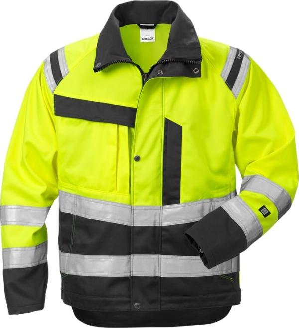 Fristads - High Vis Jacke Damen Kl. 3 4129 PLU Warnschutz-Gelb/Schwarz XS
