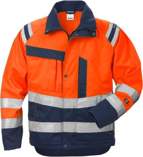 Fristads - High Vis Jacke Damen Kl. 3 4129 PLU Warnschutz-Orange/Marine XS