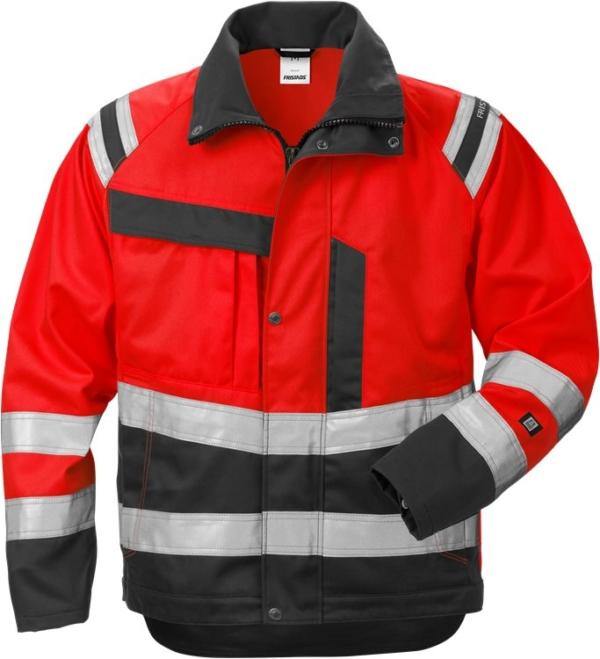 Fristads - High Vis Jacke Damen Kl. 3 4129 PLU Warnschutz-Rot/Schwarz XS