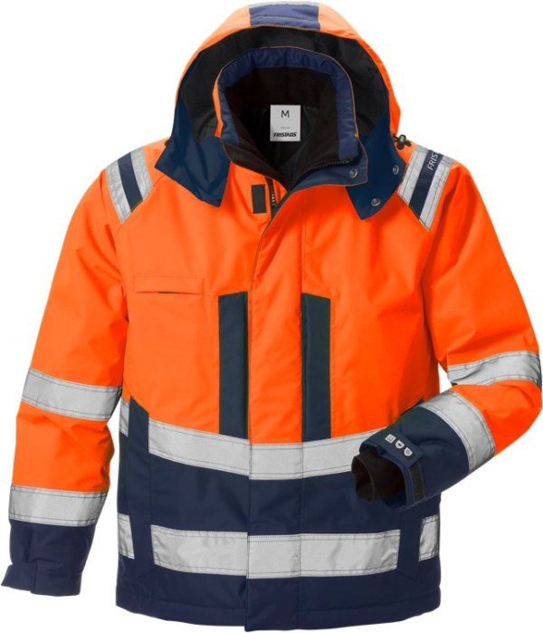 Fristads - High Vis Airtech® Winterjacke Kl. 3 4035 GTT Warnschutz-Orange/Marine XS