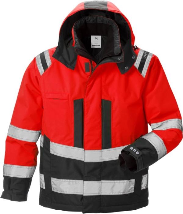 Fristads - High Vis Airtech® Winterjacke Kl. 3 4035 GTT Warnschutz-Rot/Schwarz XS