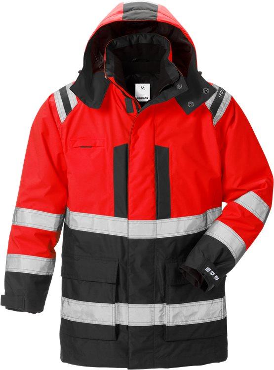 Fristads - High Vis Airtech® 3in1 Parka Kl. 3 4036 GTT Warnschutz-Rot/Schwarz XS