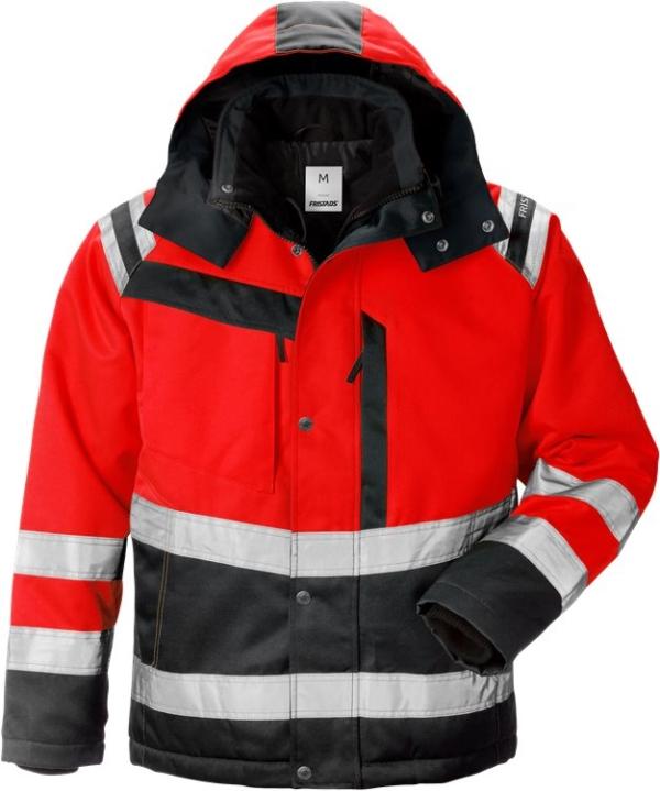 Fristads - High Vis Winterjacke Kl. 3 4043 PP Warnschutz-Rot/Schwarz XS