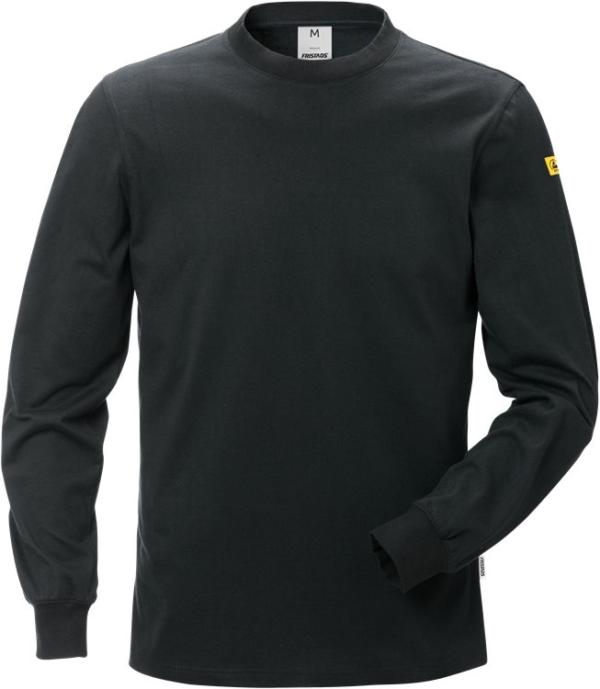 Fristads - ESD T-Shirt Langarm 7082 XTM Schwarz XS