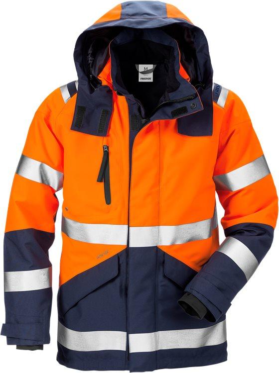 Fristads - High Vis GORE-TEX Jacke Kl. 3 4988 GXB Warnschutz-Orange/Marine XS