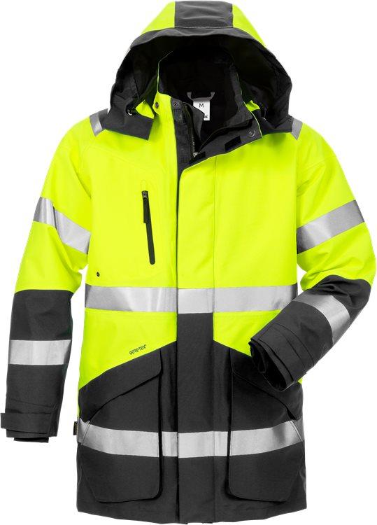 Fristads - High Vis GORE-TEX Winterparka Kl.3 4989 GXB Warnschutz-Gelb/Schwarz XS