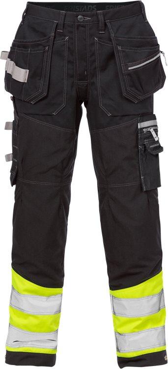 Fristads - High Vis Handwerkerhose Kl. 1 2127 CYD Warnschutz-Gelb/Schwarz C44