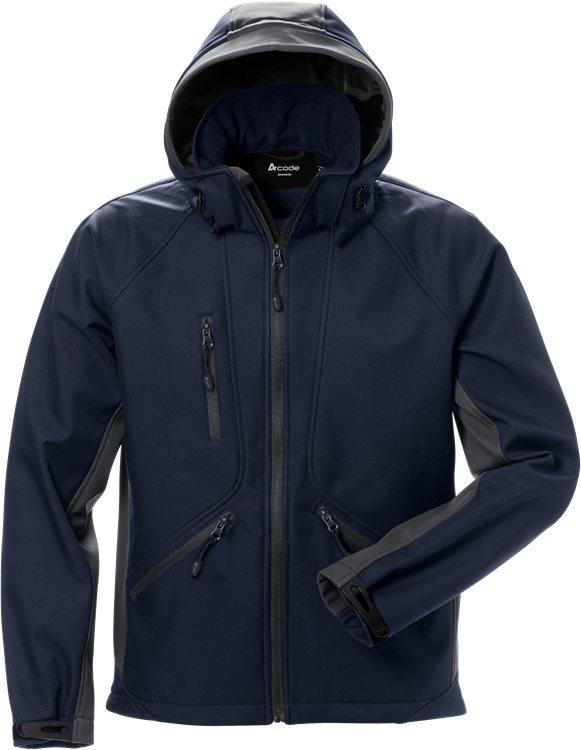 Fristads - Acode WindWear Softshell-Jacke 1414 SHI Marine/Grau S