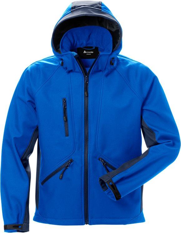 Fristads - Acode WindWear Softshell-Jacke 1414 SHI Königsblau/Marine S