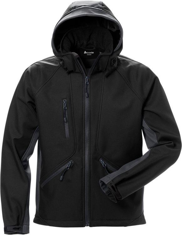 Fristads - Acode WindWear Softshell-Jacke 1414 SHI Schwarz/Grau S