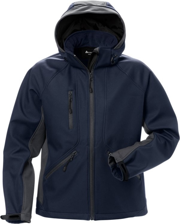 Fristads - Acode WindWear Softshell-Jacke Damen 1416 SHI Marine/Grau S