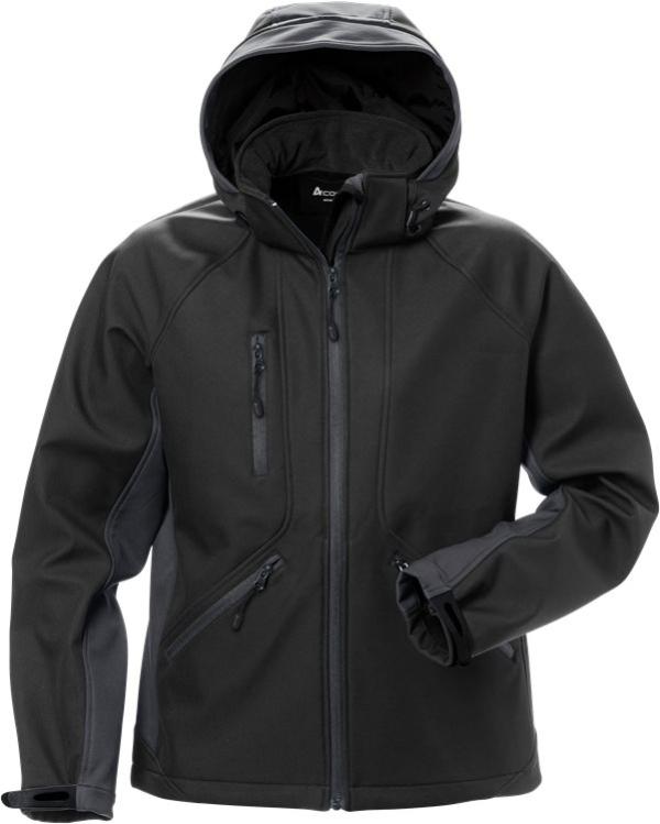 Fristads - Acode WindWear Softshell-Jacke Damen 1416 SHI Schwarz/Grau S
