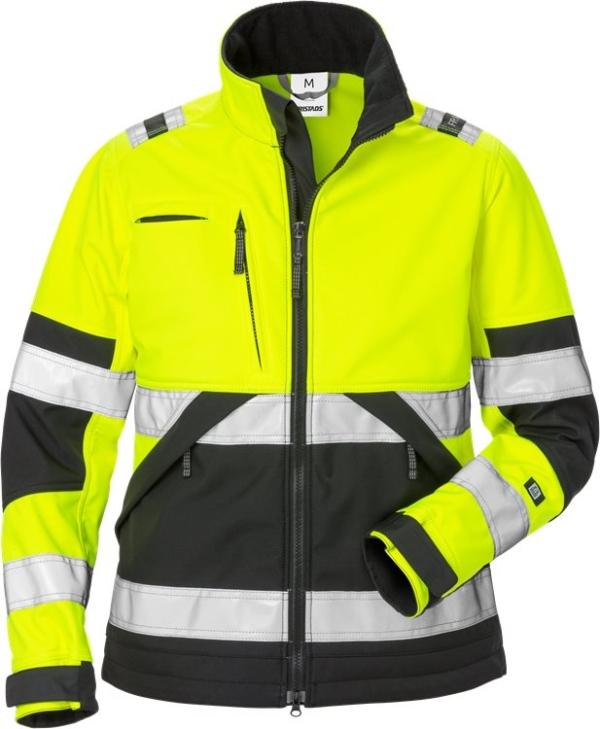 Fristads - High Vis Softshell-Jacke Damen Kl. 2 4183 WYH Warnschutz-Gelb/Schwarz XS