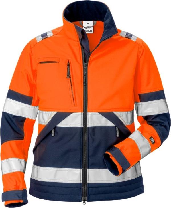 Fristads - High Vis Softshell-Jacke Damen Kl. 2 4183 WYH Warnschutz-Orange/Marine XS