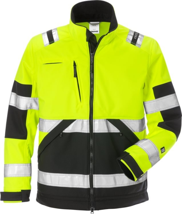 Fristads - High Vis Softshell-Jacke Kl. 2 4083 WYH Warnschutz-Gelb/Schwarz XS
