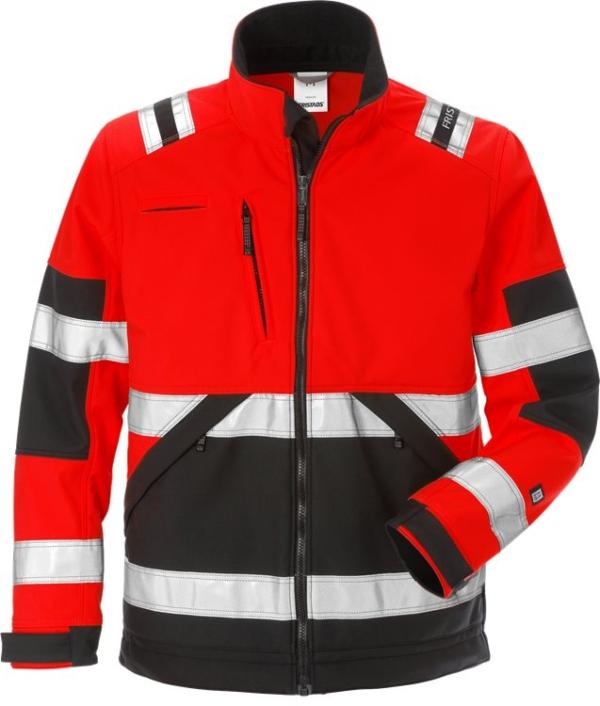 Fristads - High Vis Softshell-Jacke Kl. 2 4083 WYH Warnschutz-Rot/Schwarz XS