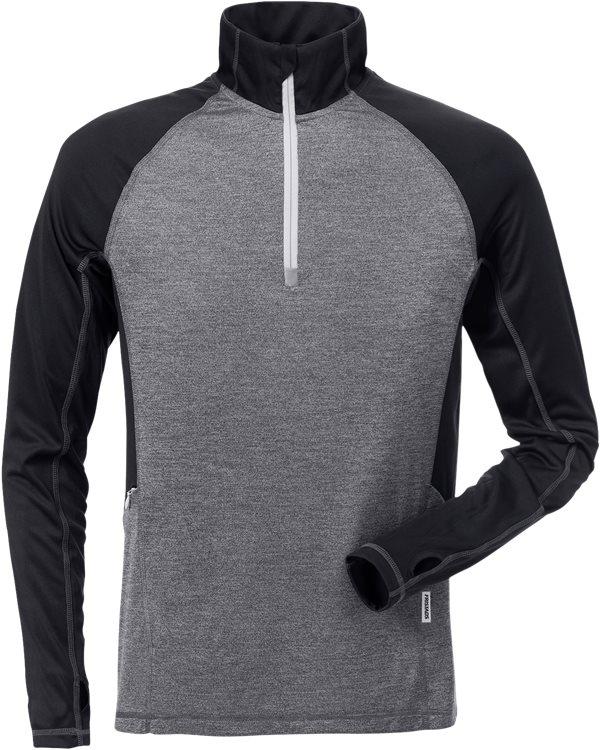 Fristads - Zipper-Sweatshirt Langarm 7514 LKN Schwarz/Grau XS