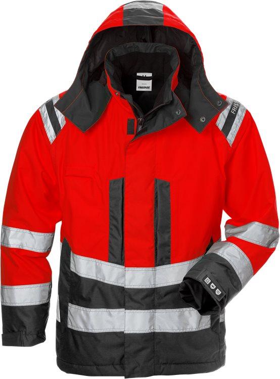 Fristads - High Vis Airtech® Winterjacke Damen Kl. 3 4037 GTT Warnschutz-Rot/Schwarz XS
