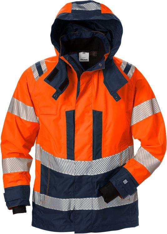 Fristads - High Vis Airtech® Außenjacke Damen Kl. 3 4518 GTT Warnschutz-Orange/Marine XS