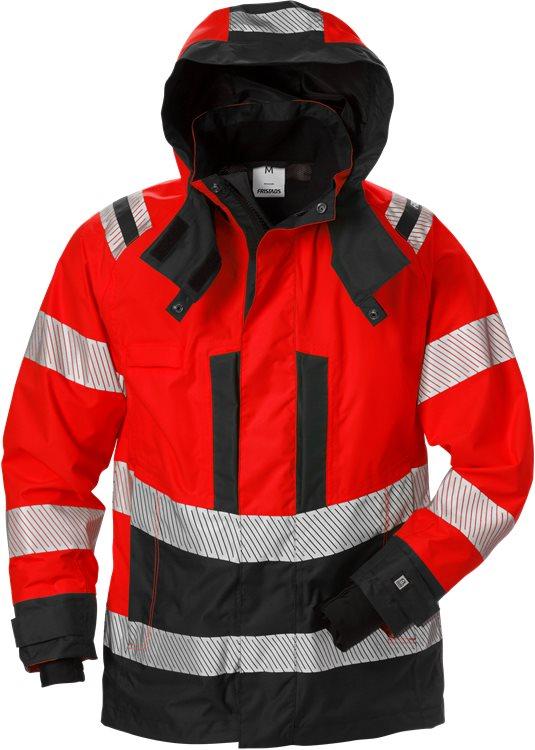 Fristads - High Vis Airtech® Außenjacke Damen Kl. 3 4518 GTT Warnschutz-Rot/Schwarz XS