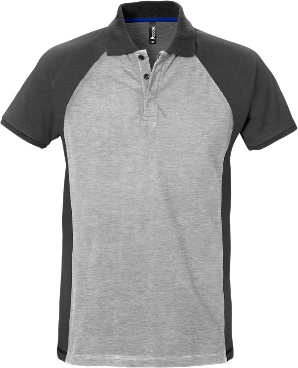Fristads - Acode Poloshirt 7650 PIQ Grau/Dunkelgrau S