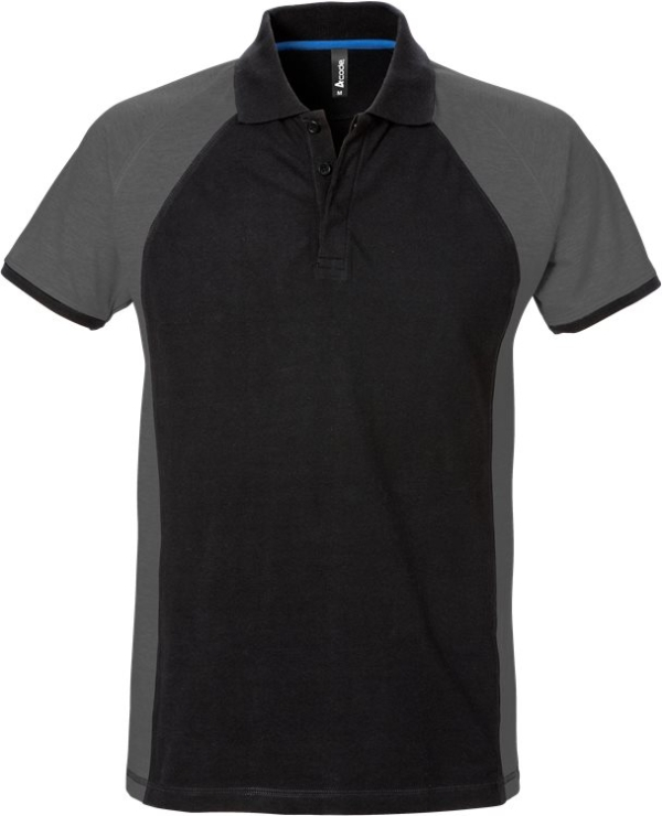 Fristads - Acode Poloshirt 7650 PIQ Schwarz/Grau S
