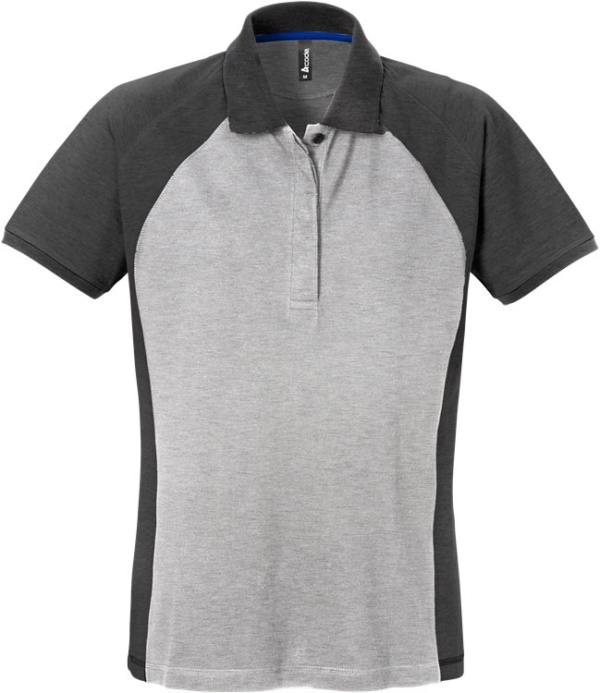 Fristads - Acode Poloshirt Damen 7651 PIQ Grau/Dunkelgrau S