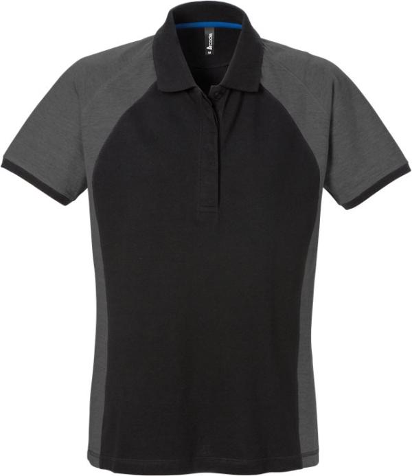 Fristads - Acode Poloshirt Damen 7651 PIQ Schwarz/Grau M