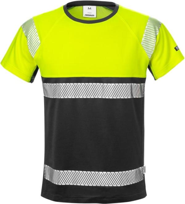 Fristads - High Vis T-Shirt, Kl. 1 7518 THV Warnschutz-Gelb/Schwarz XS